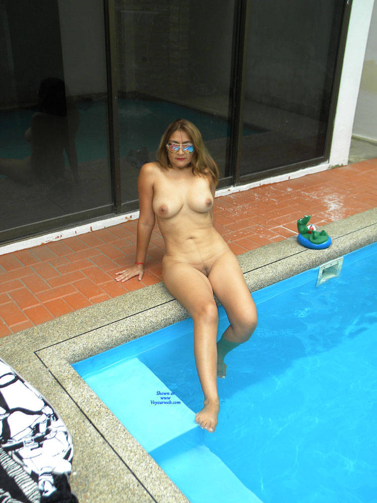 Nude In A Pool